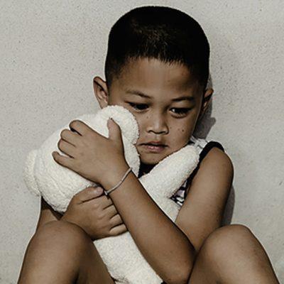 Frightened child
