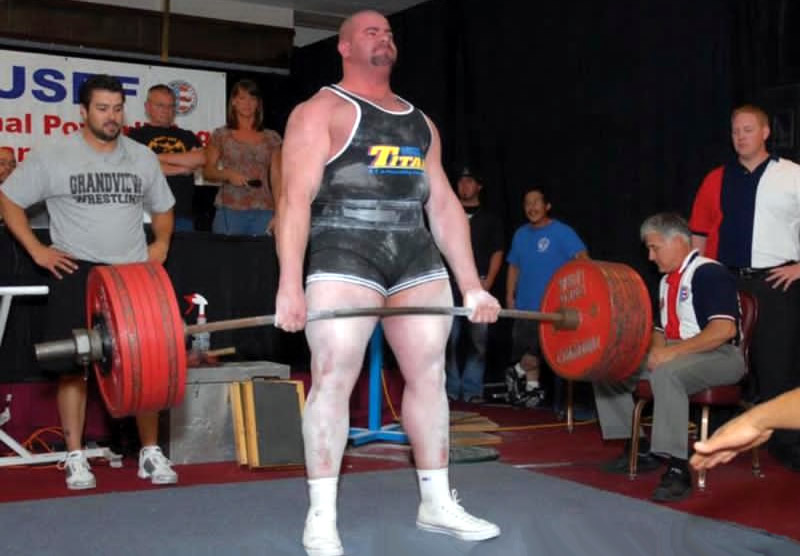 Chris Dranias power lifter